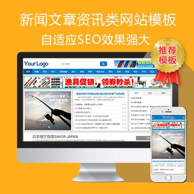 帝国ecms新闻文章资讯自适应网站模板